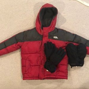 Snow Ski jacket and gloves